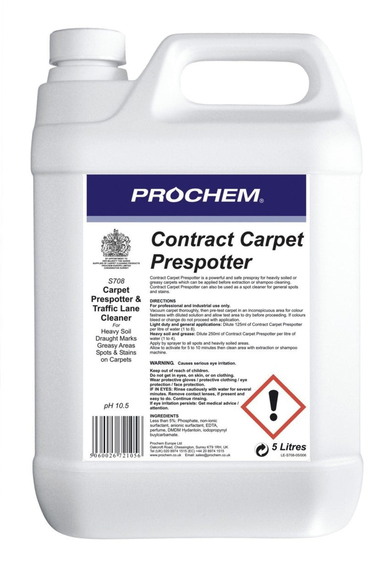 Prochem S708-05 Contract Carpet Prespotter 5 Litre
