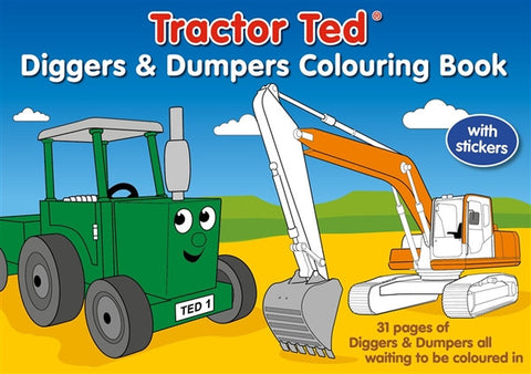 Tractor Ted - Diggers & Dumpers Colouring Book (BOOK 071)