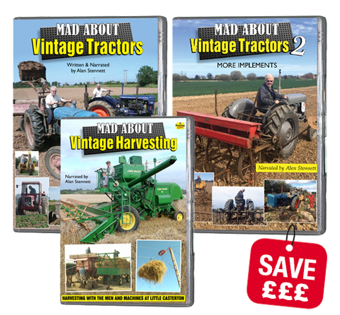 Bundle - Mad About Vintage Tractors / Harvesters (DVD)