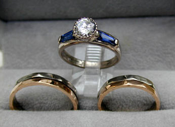 custom made engagement and wedding rings set - Custom Made Wedding Rings