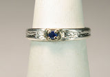 Sapphire in14K White Gold on Silver