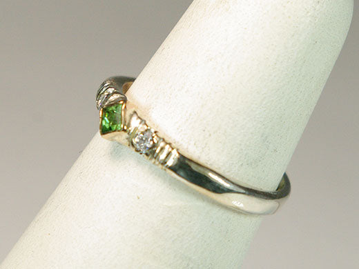 Tsavorite Garnet with Diamonds