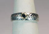 14K and Sterling Ring with Alexandrite