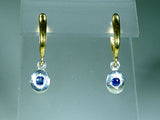 Oval Drop Earrings with Sapphires