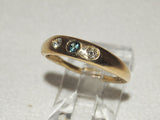 14K Gold Ring with Diamonds and Alexandrite