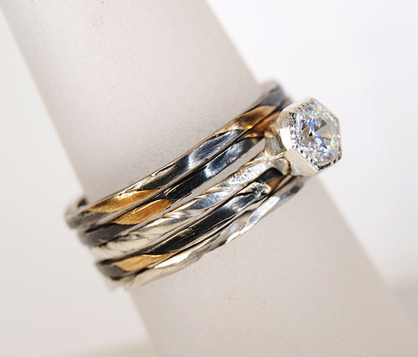 Stack Rings for Engagement Ring - riccoartjewelry.com  - 1
