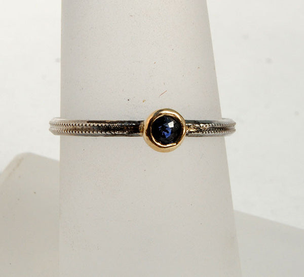 Skinny Stack Set with Sapphire - riccoartjewelry.com  - 5