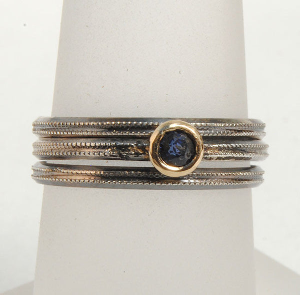 Skinny Stack Set with Sapphire - riccoartjewelry.com  - 1