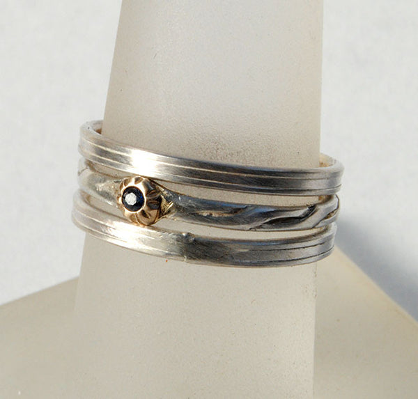 Skinny Stack Set with Ruby 3 - riccoartjewelry.com  - 1