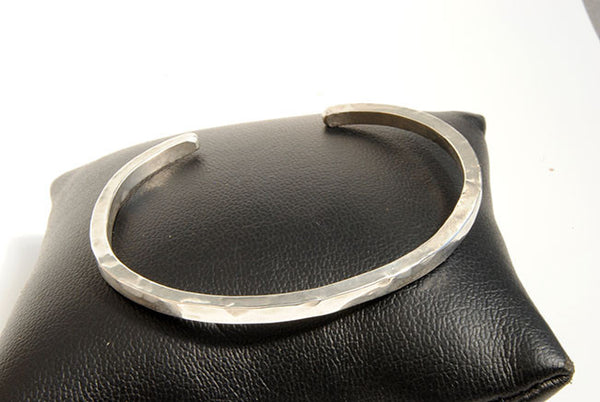 Forged Cuff Bracelet Silver or Gold - riccoartjewelry.com