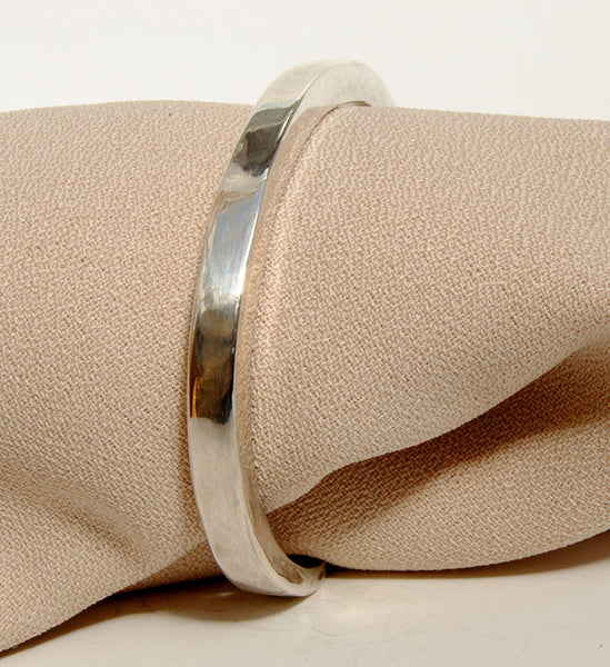 Forged Cuff Bracelet Silver or Gold 2 - riccoartjewelry.com  - 1