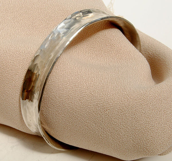 Anticlastic Raised Cuff Bracelet Silver or Gold - riccoartjewelry.com  - 2