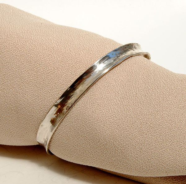 Forged Cuff Bracelet Silver or Gold 4 - riccoartjewelry.com  - 1