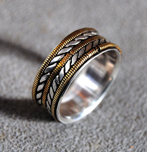 Mens Wedding Ring Musician--Wide - riccoartjewelry.com  - 1