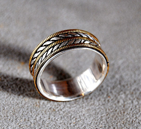 Mens Wedding Ring Musician--Wide - riccoartjewelry.com  - 2