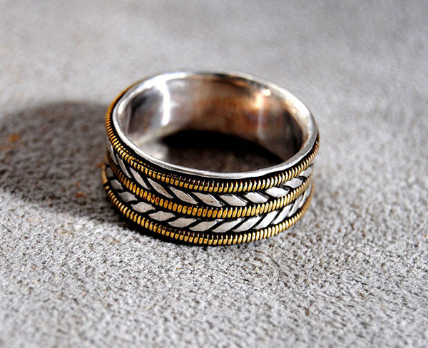 Mens Wedding Ring Musician--Wide - riccoartjewelry.com  - 3