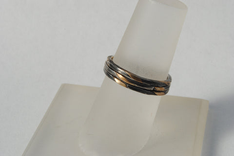 Skinny Stack Set Gold and Silver Twist - riccoartjewelry.com