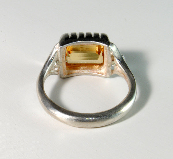 18K Gold Ring with Four Carat Canary Diamond Custom Order - riccoartjewelry.com  - 7