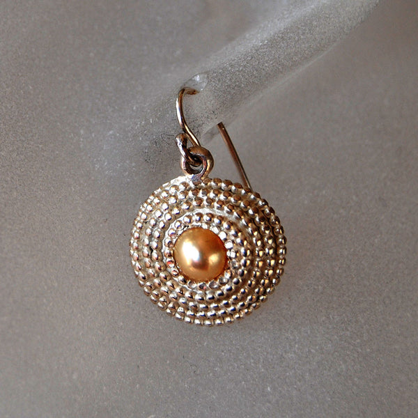 Beaded Earrings with Pearls - riccoartjewelry.com