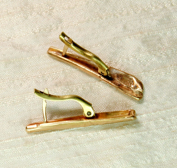 14K Gold Artisan OOAK Forged Earrings