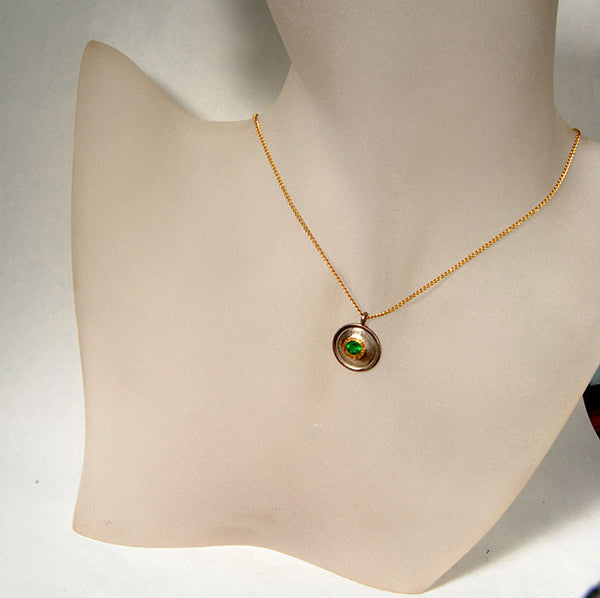 18K Gold Pendant with Emerald - riccoartjewelry.com  - 3