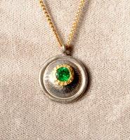 18K Gold Pendant with Emerald - riccoartjewelry.com  - 1