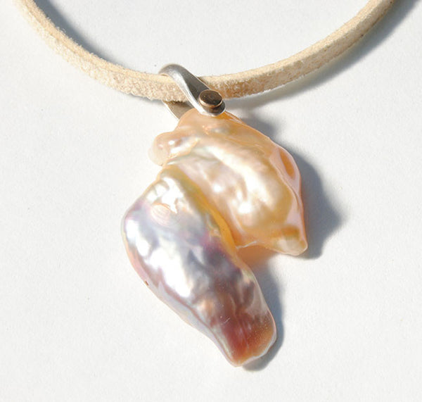 Large Keshi Pearl Necklace - riccoartjewelry.com
