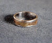 14K and Sterling Composite Band Size 7 - riccoartjewelry.com  - 2
