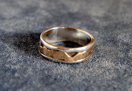14K and Sterling Composite Band - riccoartjewelry.com