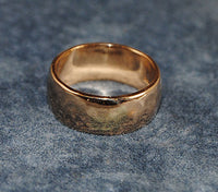14K Yellow Gold Hammered Lo Dome Band - riccoartjewelry.com  - 2