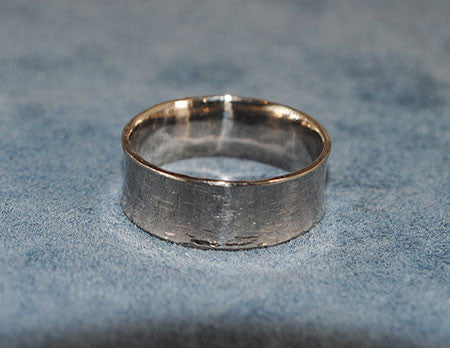 18K Palladium White Gold Comfort Fit Wide Band - riccoartjewelry.com  - 1