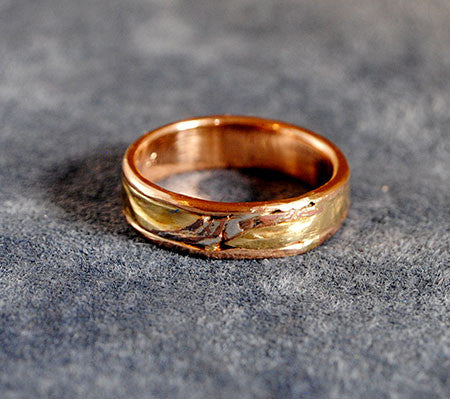 18K Rose Gold Composite Ring - riccoartjewelry.com  - 1