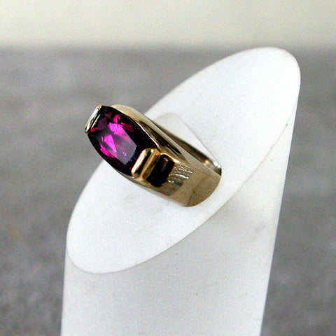 14K Gold Ring with Tourmaline - riccoartjewelry.com  - 1