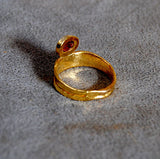 22K Gold Ring with Ruby Cabochon - riccoartjewelry.com  - 4
