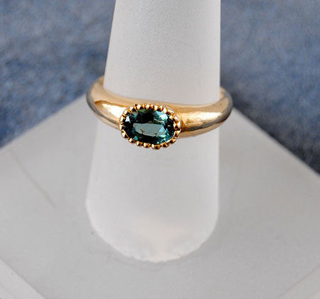 14K Gold Ring with Blue Tourmaline - riccoartjewelry.com  - 1