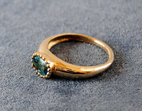 14K Gold Ring with Blue Tourmaline - riccoartjewelry.com  - 2