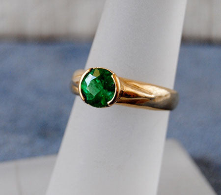 14K Gold Ring with Emerald - riccoartjewelry.com  - 1