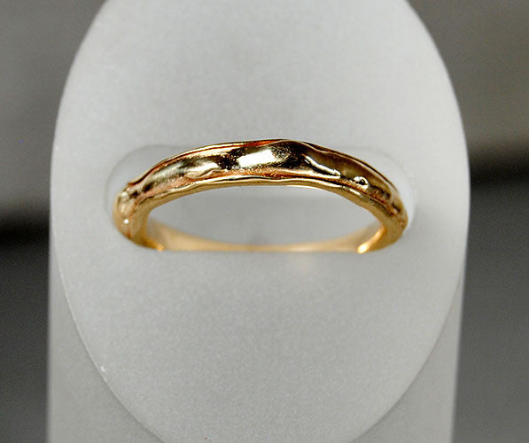 14K Gold Organic Form Wedding Band - riccoartjewelry.com  - 1