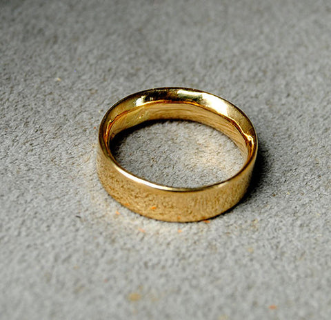18K Gold Comfort Fit Wedding Band - riccoartjewelry.com