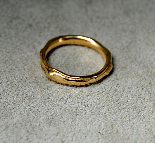 14K Gold Organic Form Wedding Band - riccoartjewelry.com  - 2