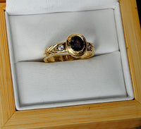 14K Gold Ring with Diamonds and Spinel - riccoartjewelry.com  - 3