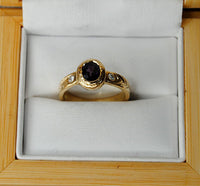 14K Gold Ring with Diamonds and Spinel - riccoartjewelry.com  - 2