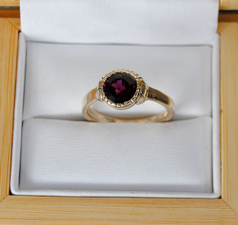 14K Gold Ring with Purple Tourmaline - riccoartjewelry.com  - 1