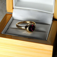 14K Gold Ring with Purple Tourmaline - riccoartjewelry.com  - 2
