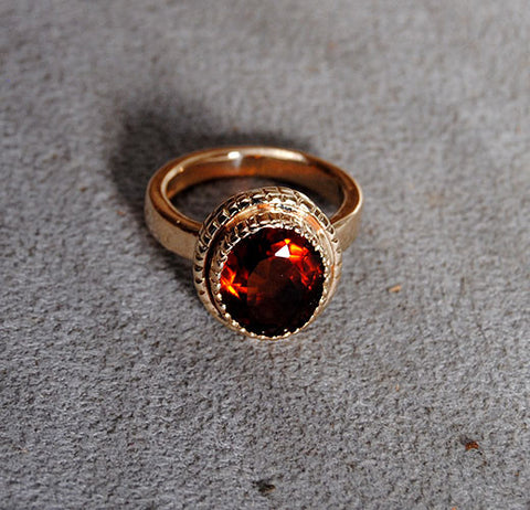 14K Gold Ring with Madeira Citrine - riccoartjewelry.com  - 1
