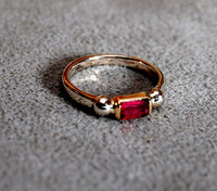 14K Gold Ring with Pink Tourmaline - riccoartjewelry.com  - 2