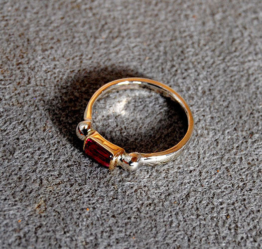 14K Gold Ring with Pink Tourmaline - riccoartjewelry.com  - 4
