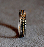 Mens Wedding Ring Musician--Narrow - riccoartjewelry.com  - 1