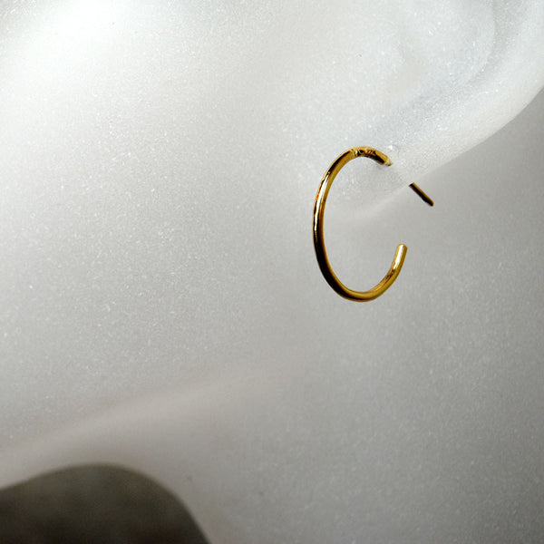 22K Hoop Earrings - riccoartjewelry.com  - 1