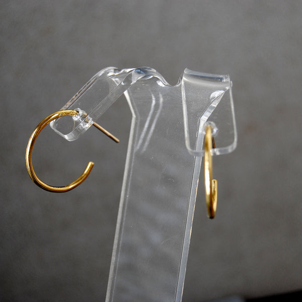 22K Hoop Earrings - riccoartjewelry.com  - 3